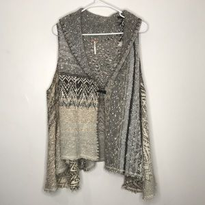 Free People In Your Arms Wool Blend Cardigan Vest